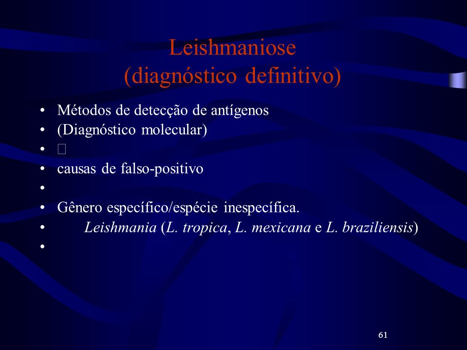 Leishmaniose (diagnóstico definitivo)