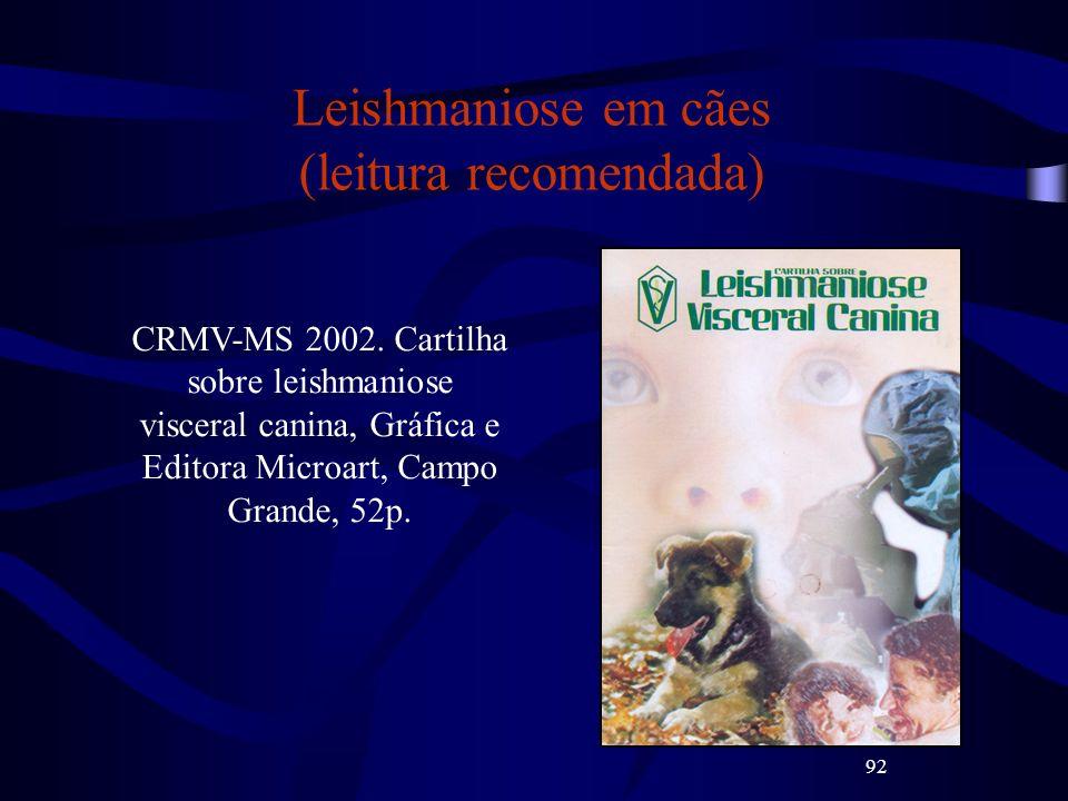 Leishmaniose em cães (leitura recomendada)