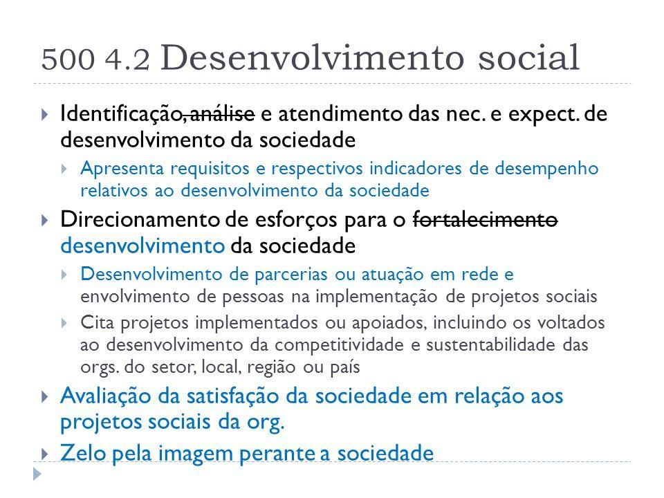 500 4.2 Desenvolvimento social