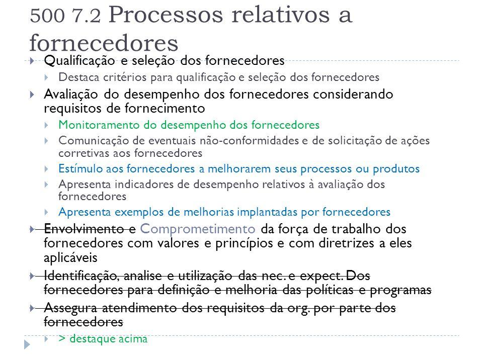 500 7.2 Processos relativos a fornecedores