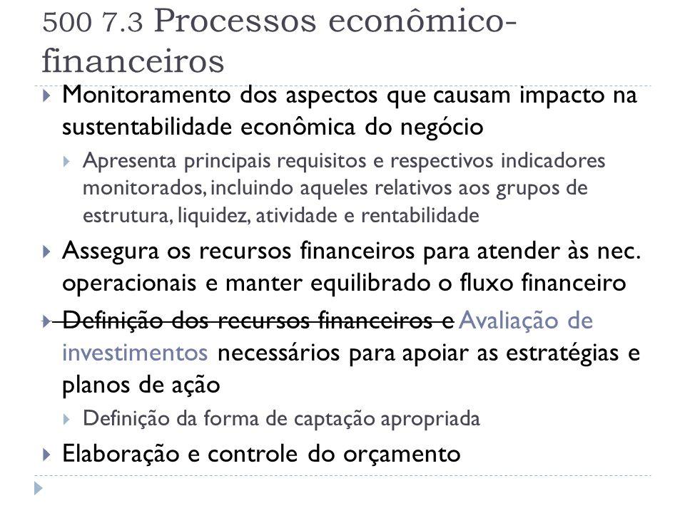 500 7.3 Processos econômico-financeiros