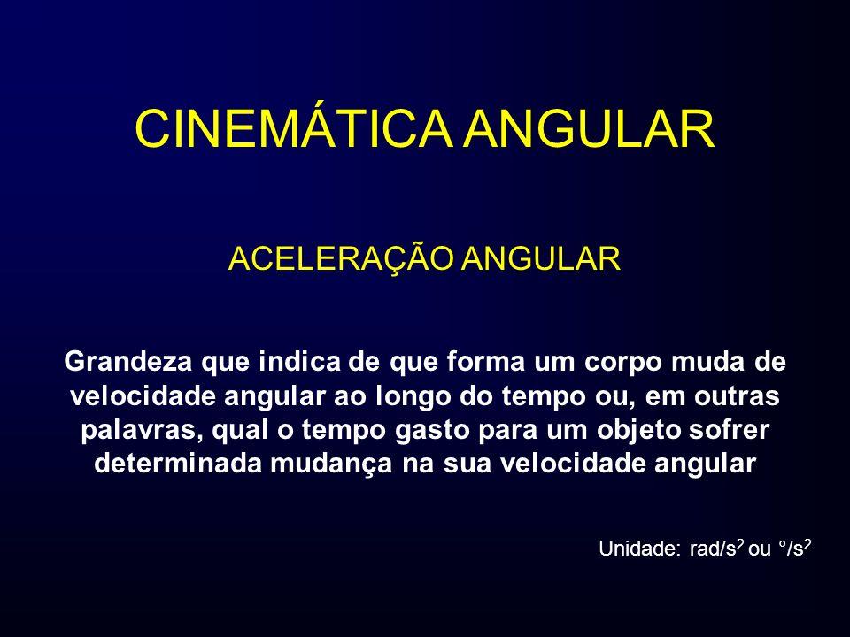 CINEMÁTICA ANGULAR ACELERAÇÃO ANGULAR