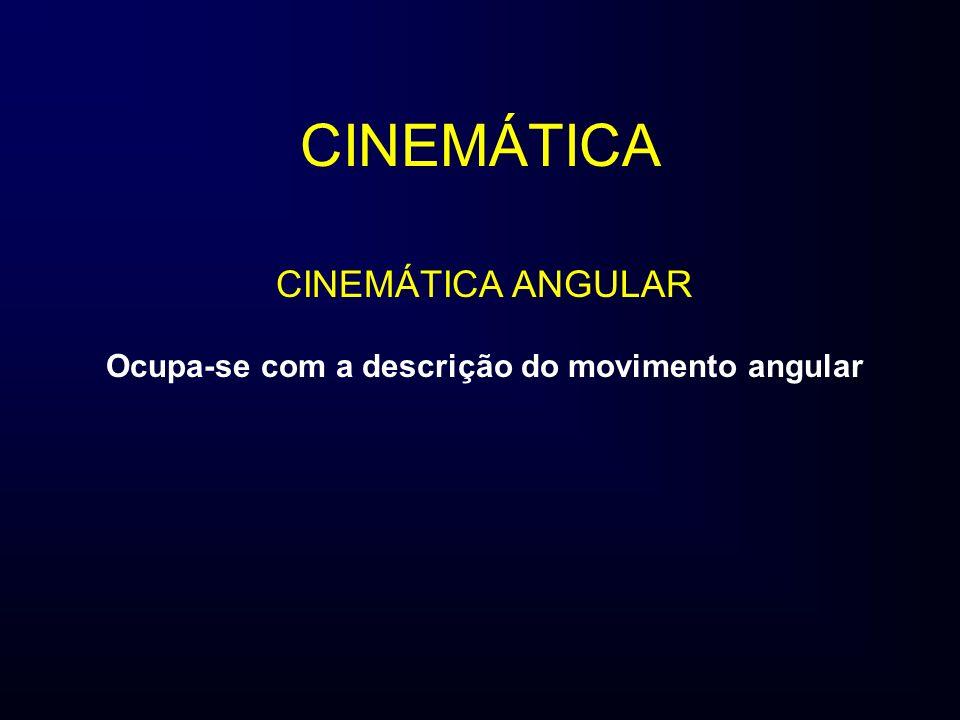 Ocupa-se com a descrição do movimento angular