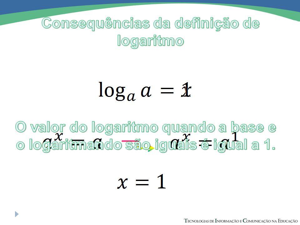 Consequências da definição de logaritmo