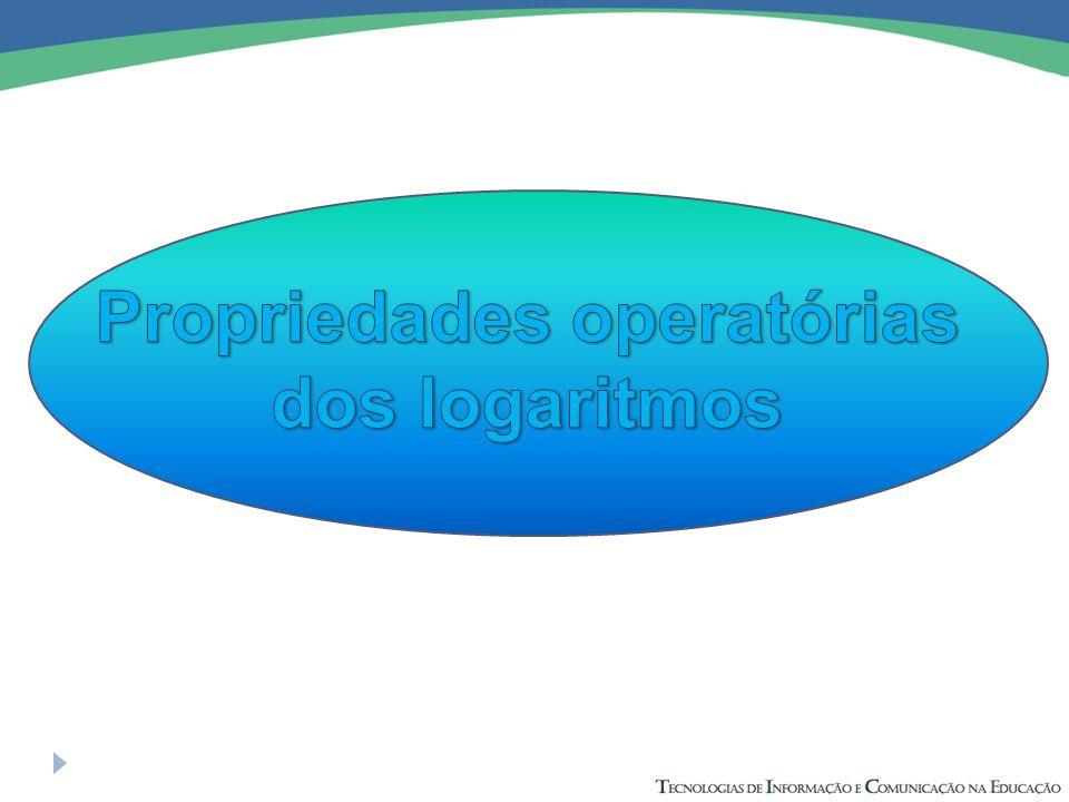 Propriedades operatórias dos logaritmos