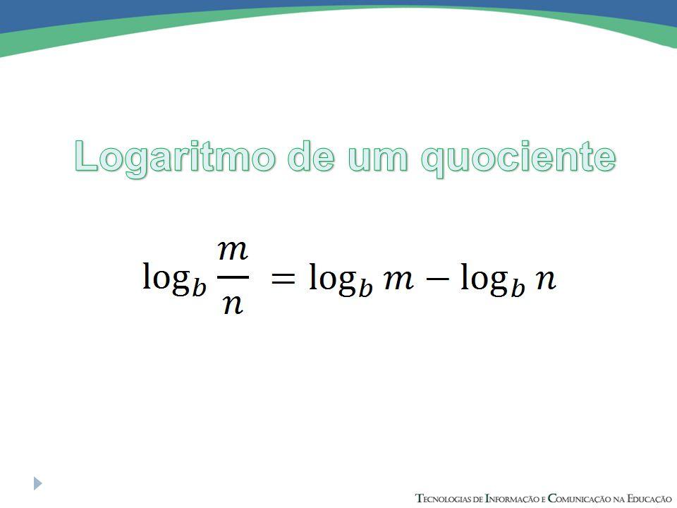 Logaritmo de um quociente