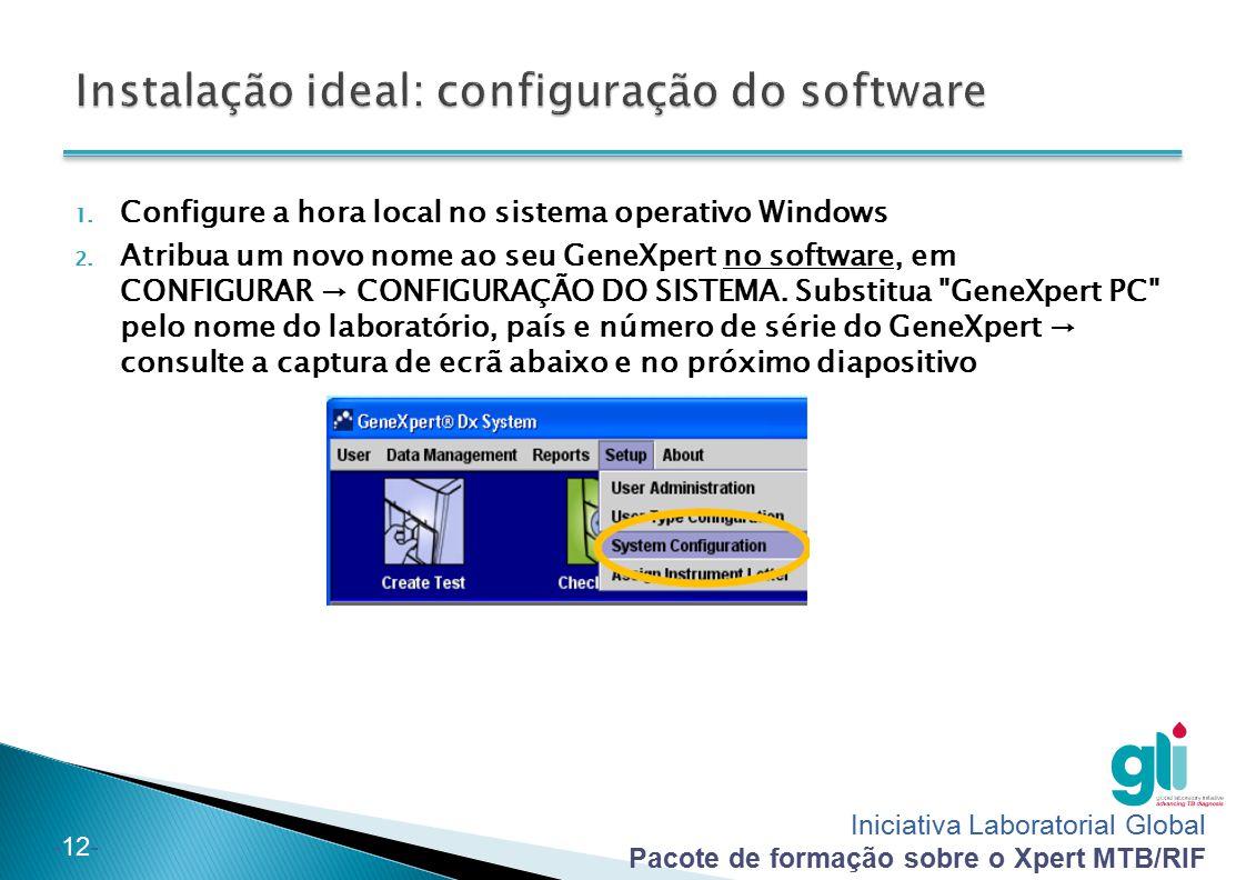 Instalação ideal: configuração do software