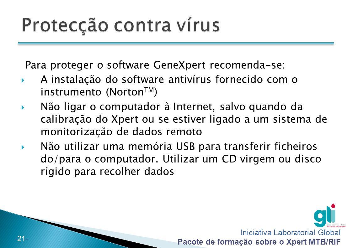 Protecção contra vírus