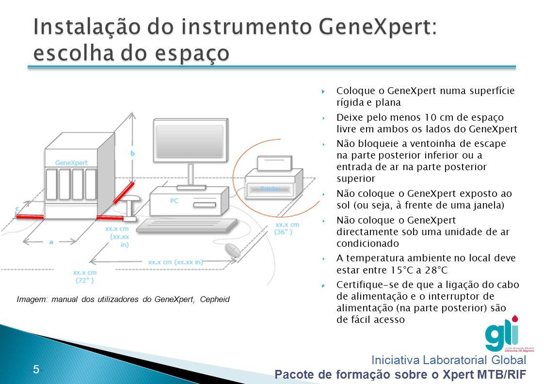 Instalação do instrumento GeneXpert: escolha do espaço