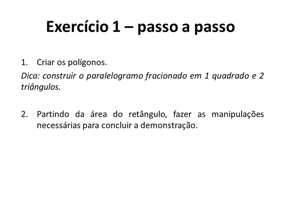 Exercício 1 – passo a passo