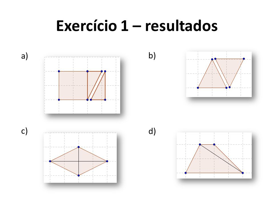 Exercício 1 – resultados
