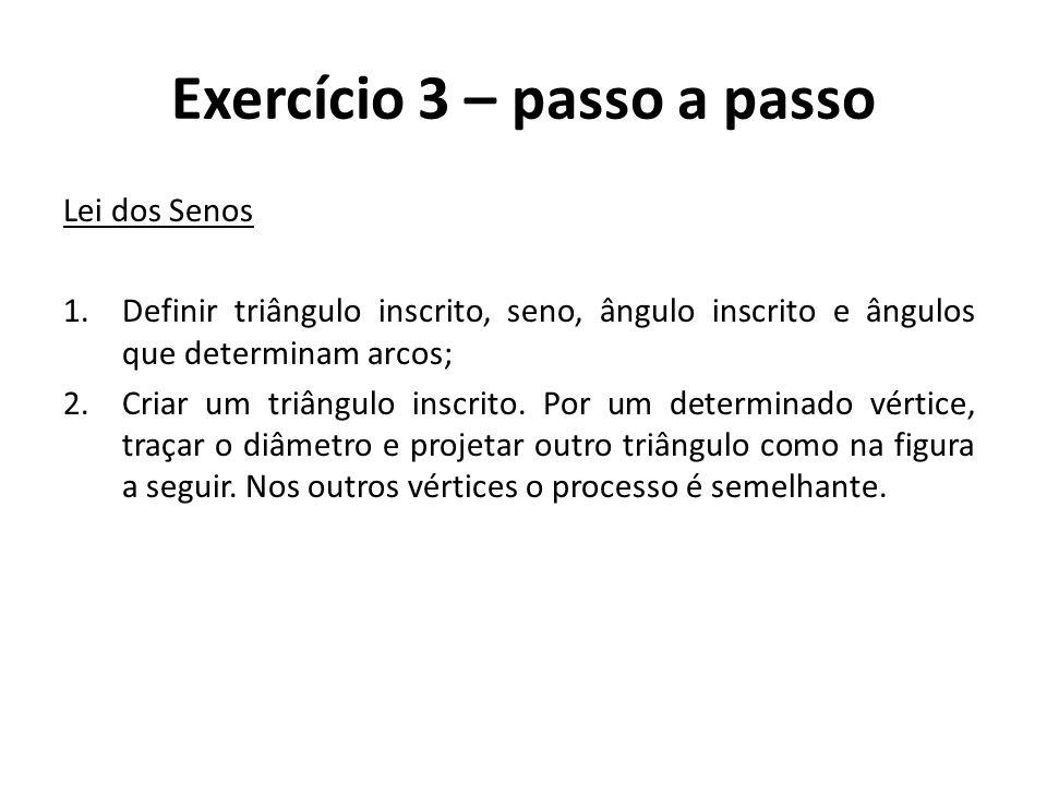 Exercício 3 – passo a passo