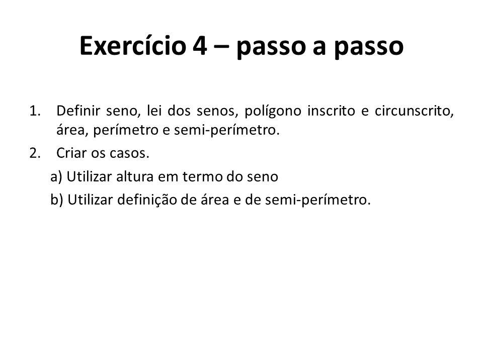 Exercício 4 – passo a passo