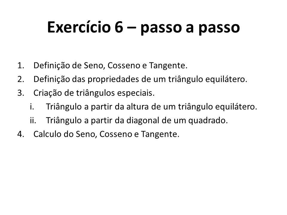 Exercício 6 – passo a passo
