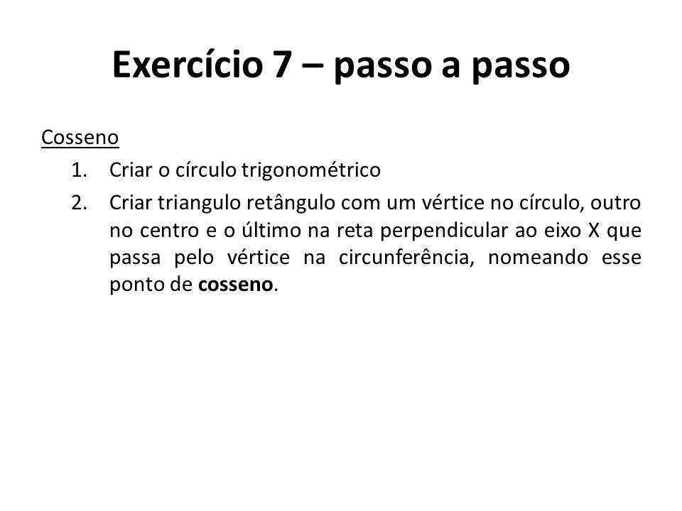 Exercício 7 – passo a passo