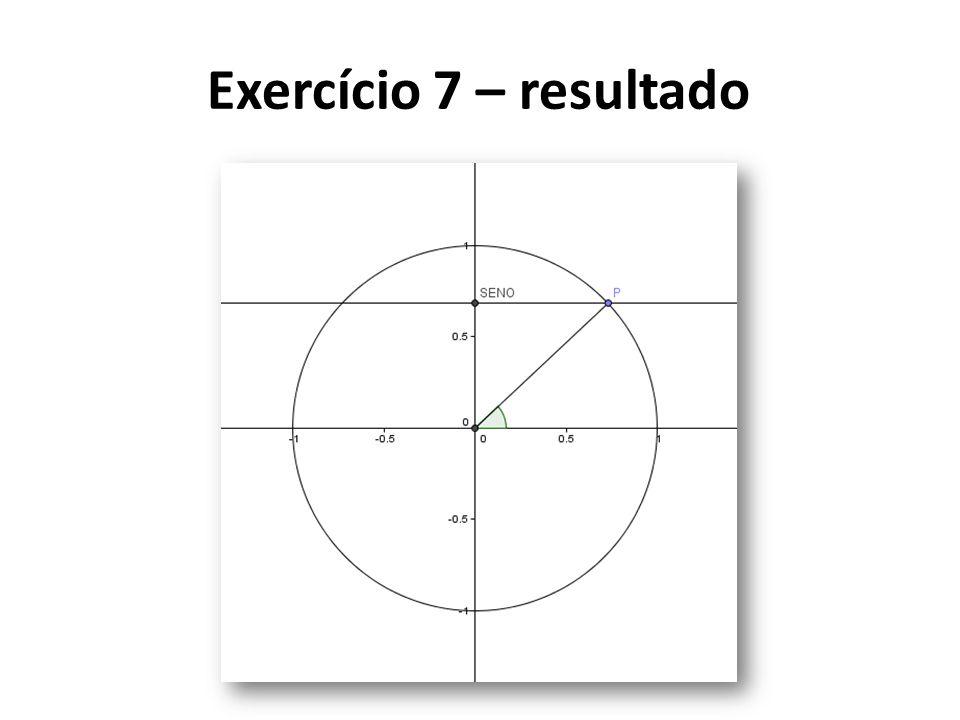 Exercício 7 – resultado