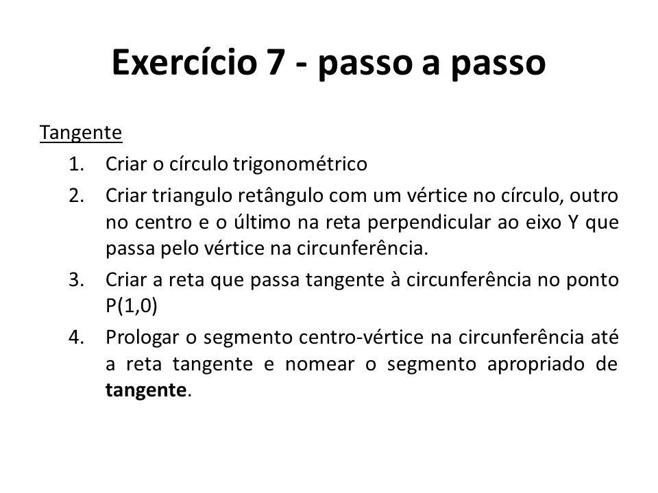 Exercício 7 - passo a passo