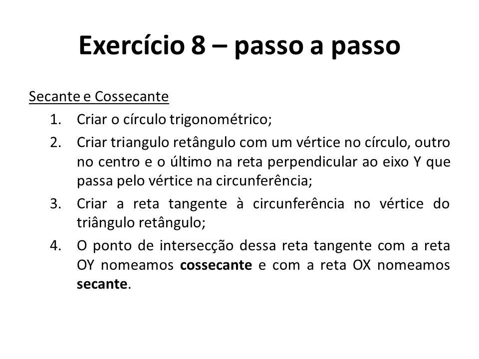 Exercício 8 – passo a passo