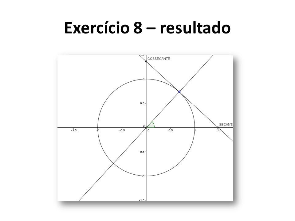 Exercício 8 – resultado
