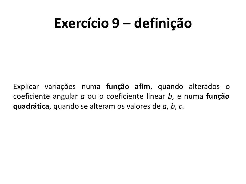 Exercício 9 – definição