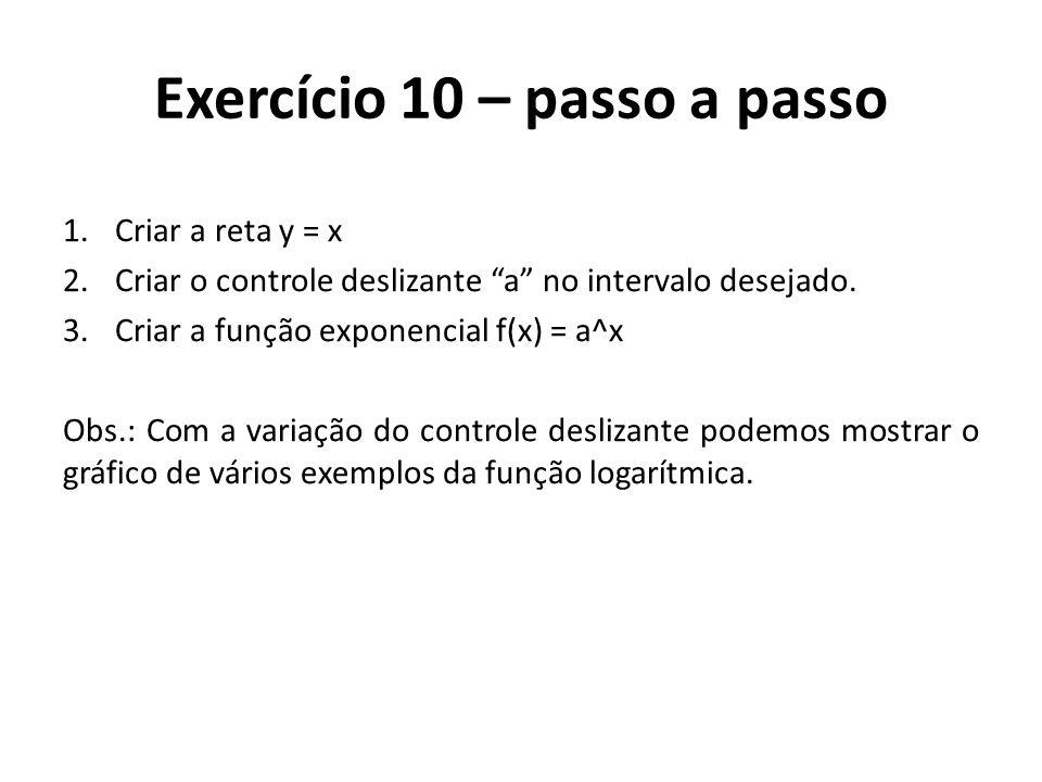 Exercício 10 – passo a passo