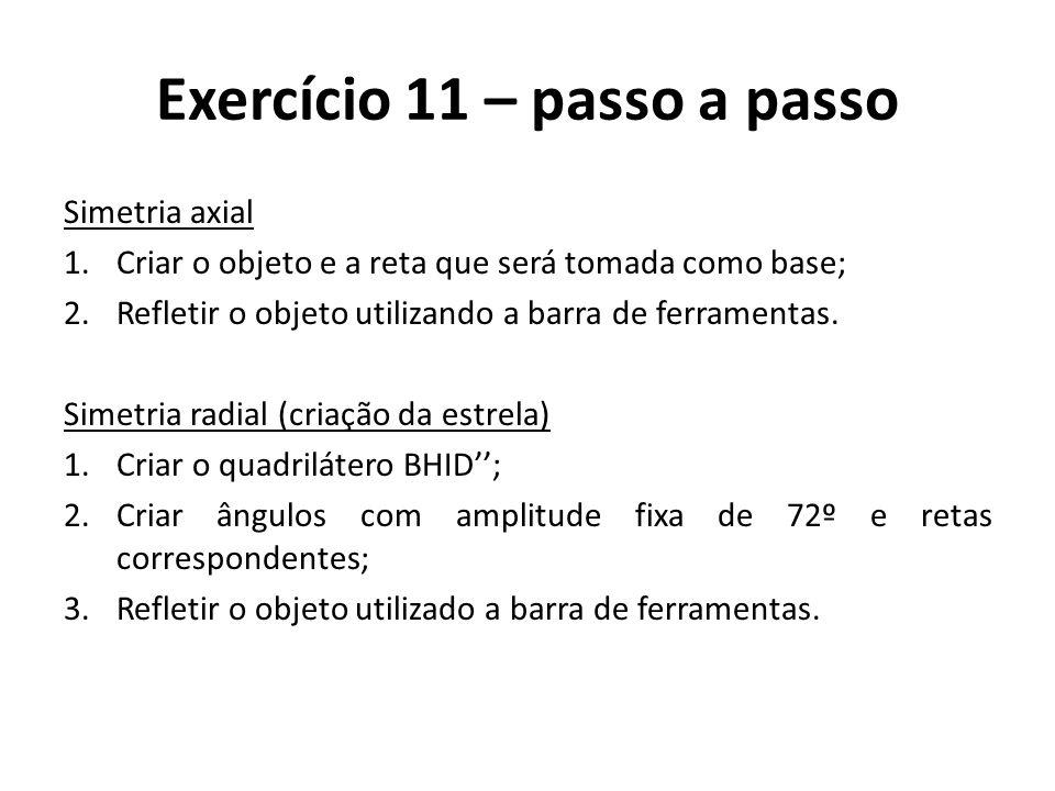 Exercício 11 – passo a passo