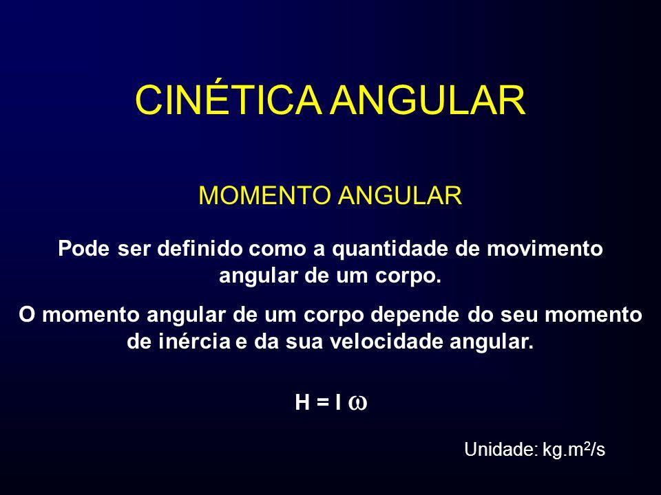 Pode ser definido como a quantidade de movimento angular de um corpo.
