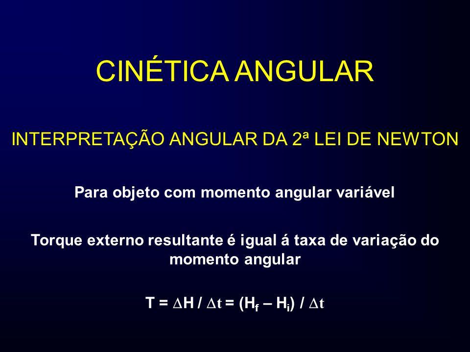 Para objeto com momento angular variável