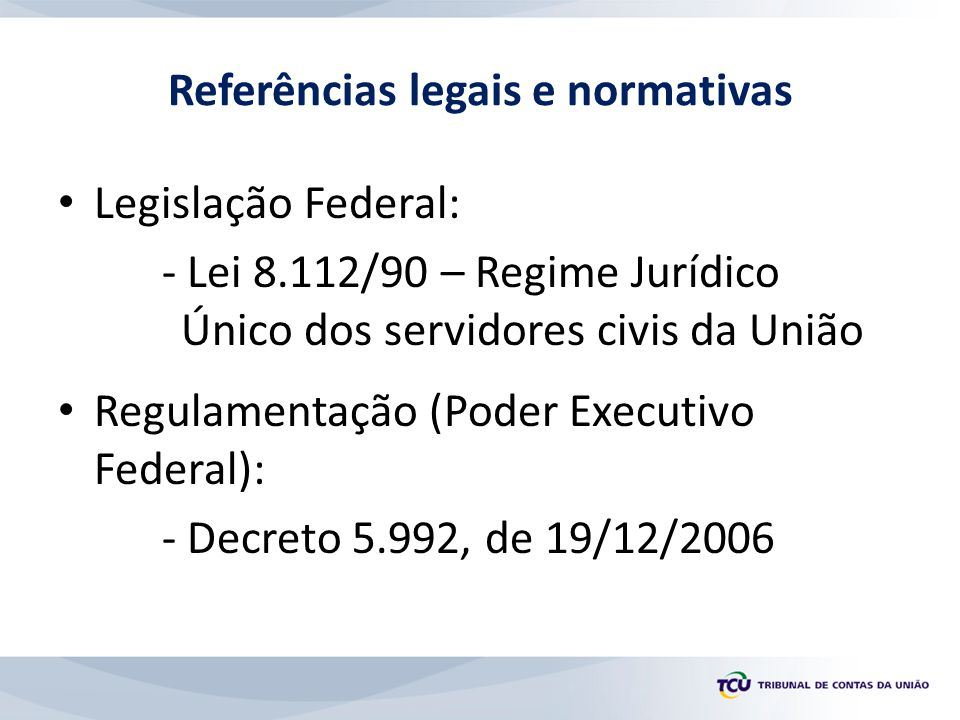 Referências legais e normativas