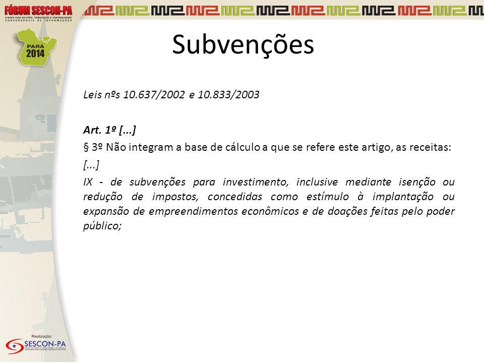 Subvenções