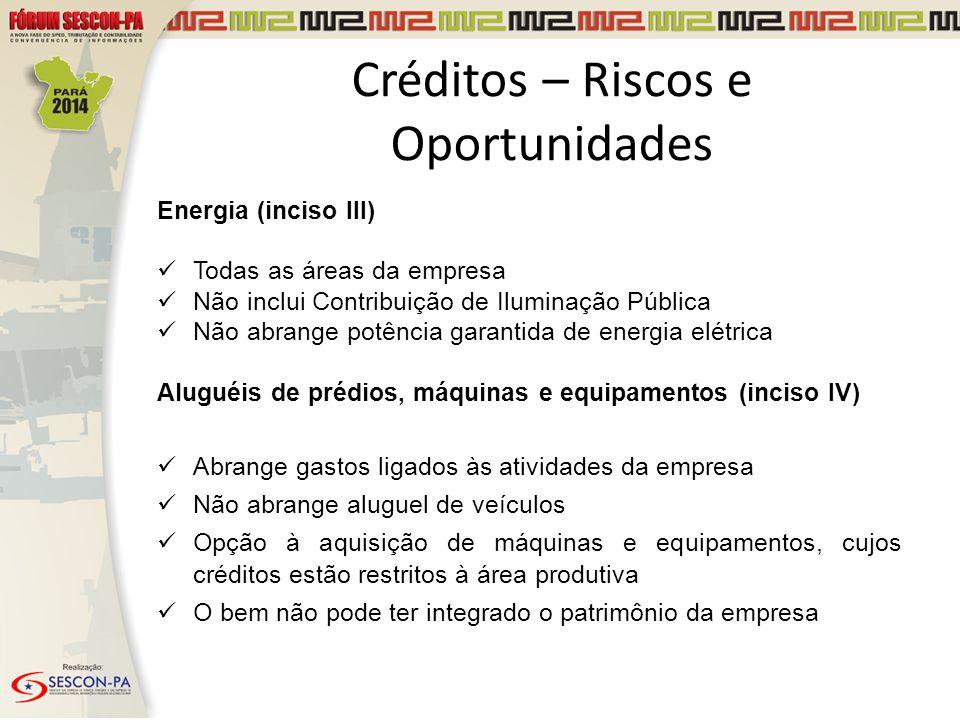 Créditos – Riscos e Oportunidades