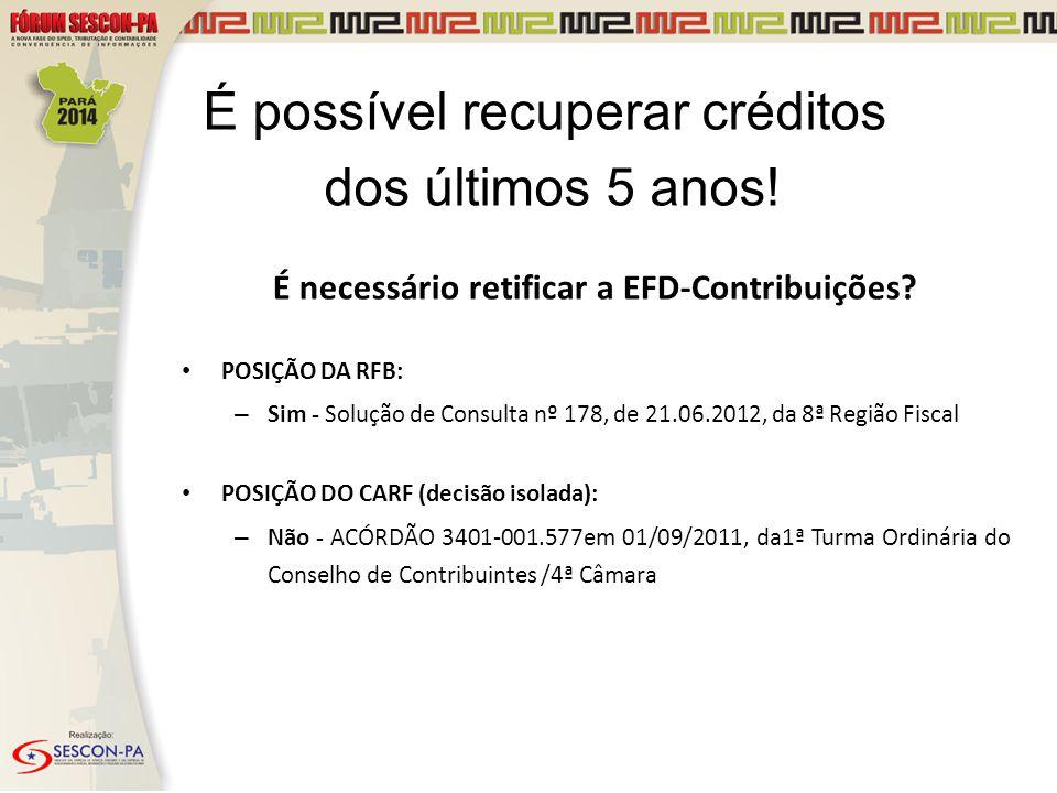 É necessário retificar a EFD-Contribuições