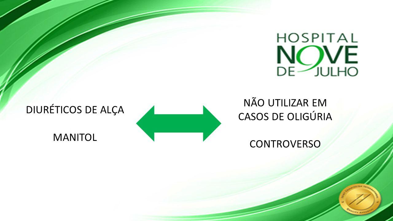 NÃO UTILIZAR EM CASOS DE OLIGÚRIA