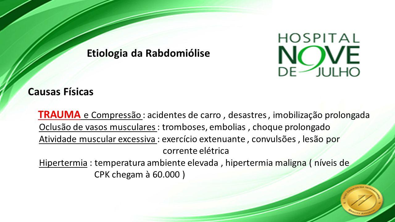Etiologia da Rabdomiólise
