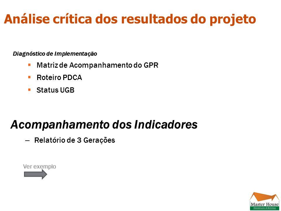 Análise crítica dos resultados do projeto