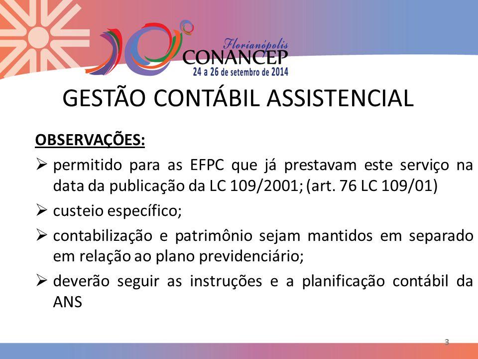 GESTÃO CONTÁBIL ASSISTENCIAL