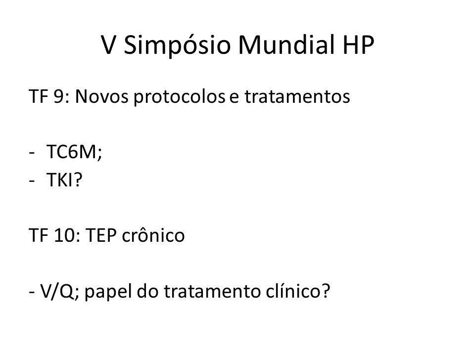 V Simpósio Mundial HP TF 9: Novos protocolos e tratamentos TC6M; TKI