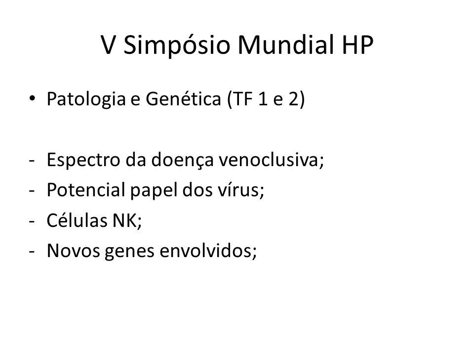 V Simpósio Mundial HP Patologia e Genética (TF 1 e 2)