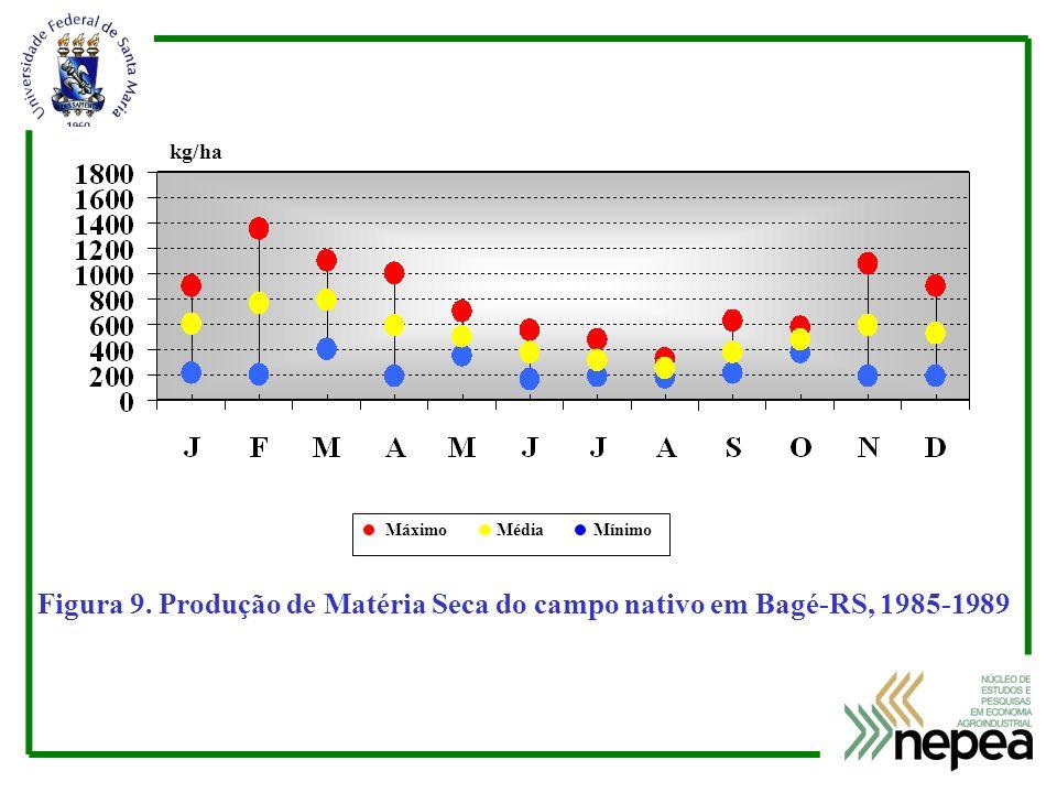 kg/ha Máximo Média Mínimo. Figura 9.
