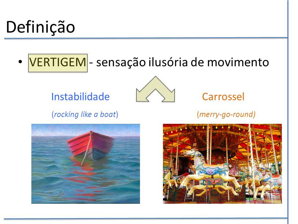 Definição VERTIGEM - sensação ilusória de movimento
