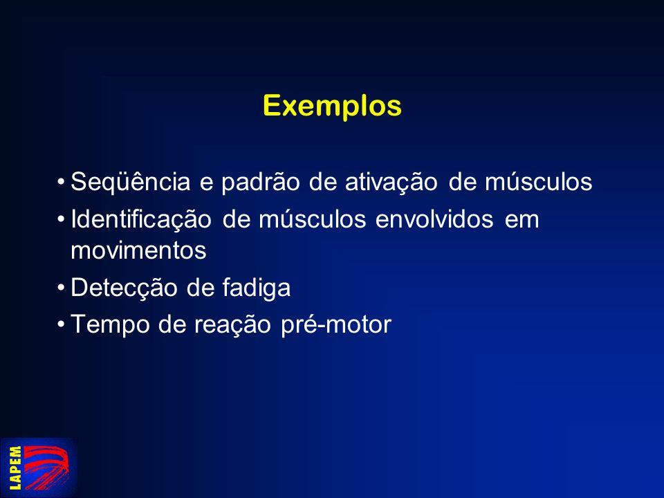 Exemplos Seqüência e padrão de ativação de músculos