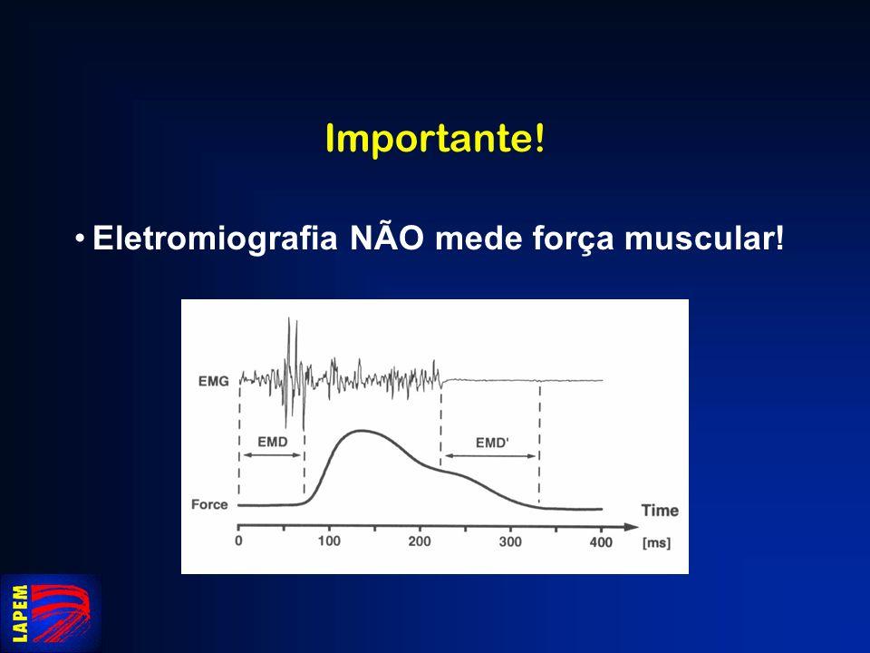 Importante! Eletromiografia NÃO mede força muscular!