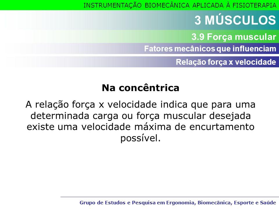 3 MÚSCULOS 3.9 Força muscular Na concêntrica
