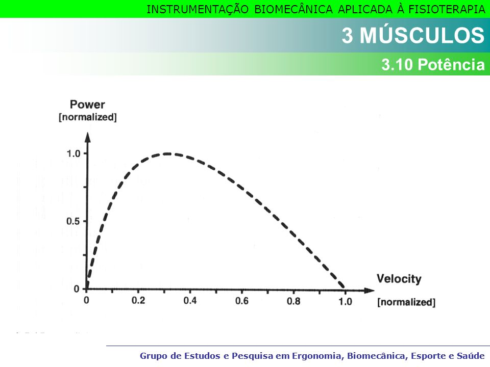 3 MÚSCULOS 3.10 Potência Grupo de Estudos e Pesquisa em Ergonomia, Biomecânica, Esporte e Saúde