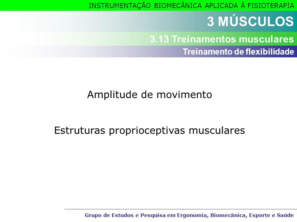 3 MÚSCULOS 3.13 Treinamentos musculares Amplitude de movimento