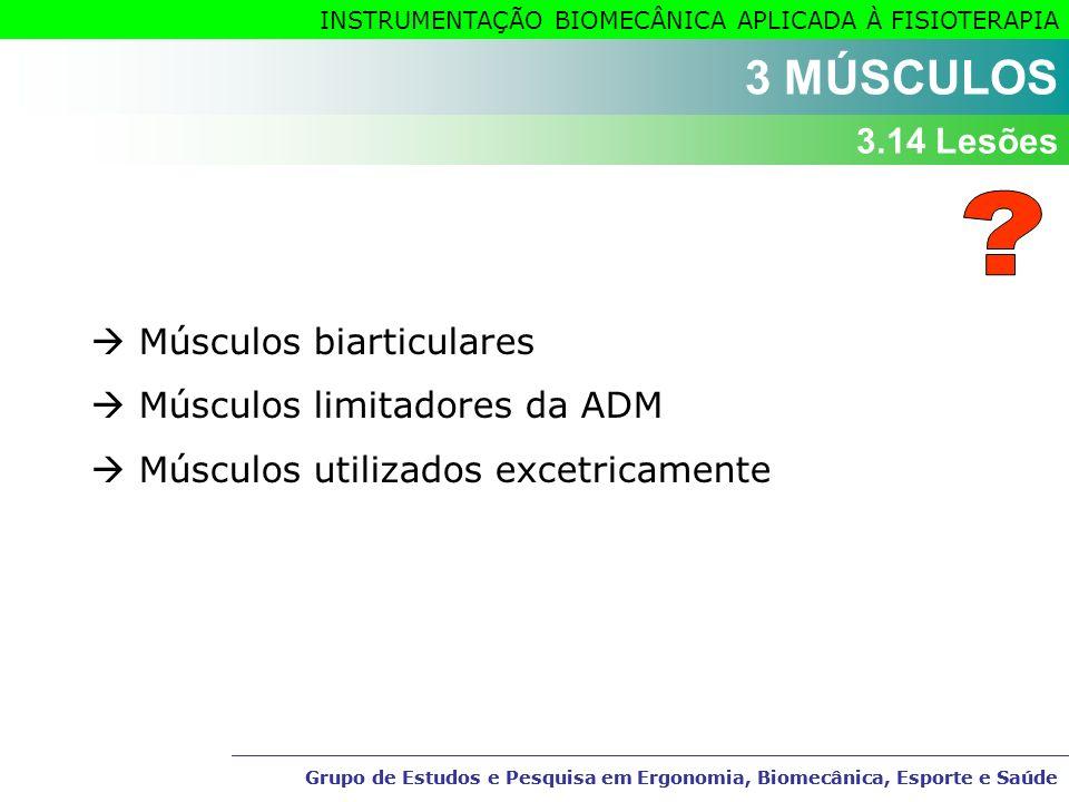 3 MÚSCULOS 3.14 Lesões  Músculos biarticulares