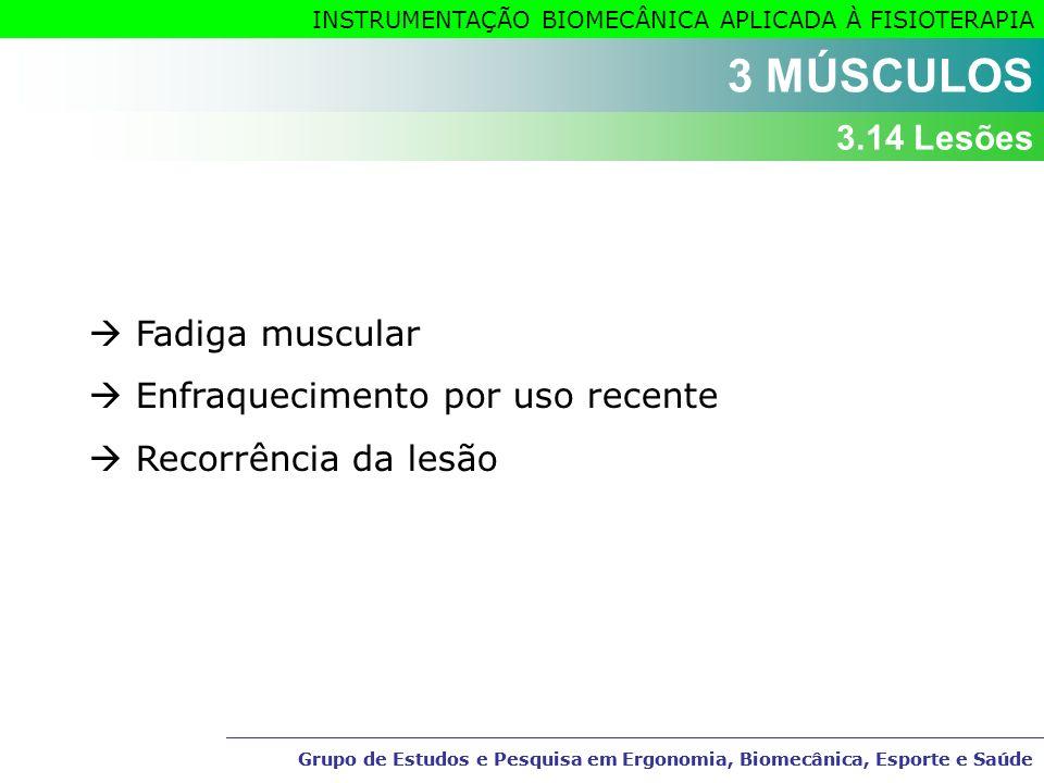 3 MÚSCULOS 3.14 Lesões  Fadiga muscular