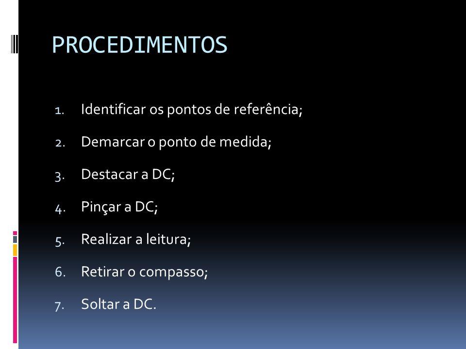 PROCEDIMENTOS Identificar os pontos de referência;