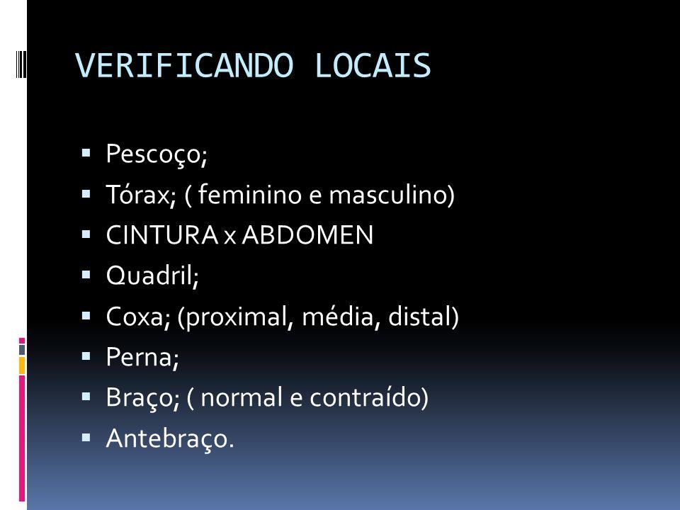 VERIFICANDO LOCAIS Pescoço; Tórax; ( feminino e masculino)