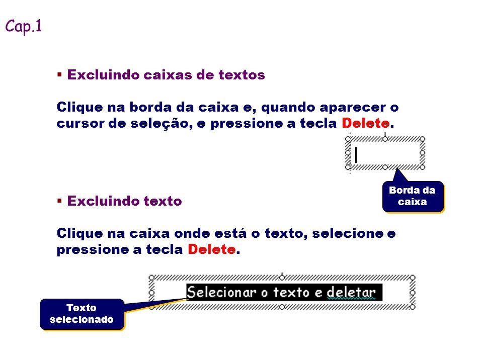 Cap.1 Excluindo caixas de textos